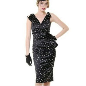 Stop Staring bow wiggle dress L